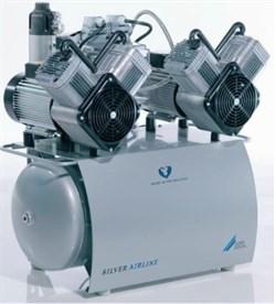 Компрессор Duo Tandem с мембранным осушителем 1 агрегатом без кожуха на 2-4 установки - фото 4742
