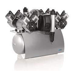 Компрессор Quattro Tandem с мембранным осушителем 1 агрегатом без кожуха на 5-10 установок - фото 4744