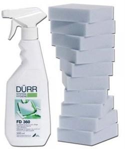 FD 360 - cредство для чистки и ухода за изделиями из искусственной кожи (0.5 л, распылитель, 10 спонжей) - фото 5169