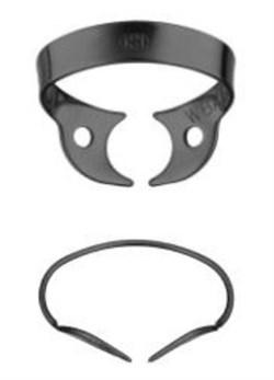 Кламп коффердам для моляров №W8А-В аналог клампа Brinker B1 с черным покрытием для работы с микроскопом (Dentech, Япония) - фото 5565