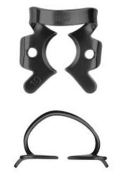Кламп коффердам для моляров №10-В с черным покрытием для работы с микроскопом (Dentech, Япония) - фото 5567