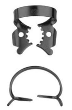 Кламп коффердам для моляров №13A-В с черным покрытием для работы с микроскопом (Dentech, Япония) - фото 5573