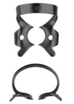 Кламп коффердам для моляров №14-В с черным покрытием для работы с микроскопом (Dentech, Япония) - фото 5575