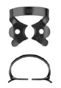 №208-B с черным покрытием для работы с микроскопом, кламп для клыков и премоляров верхней и нижней челюсти
