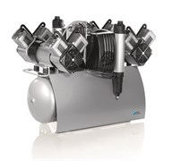 Компрессор Quattro Tandem с мембранным осушителем 1 агрегатом без кожуха на 5-10 установок